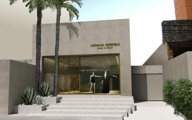 A fachada da flagship de Adriana Degreas nos Jardins