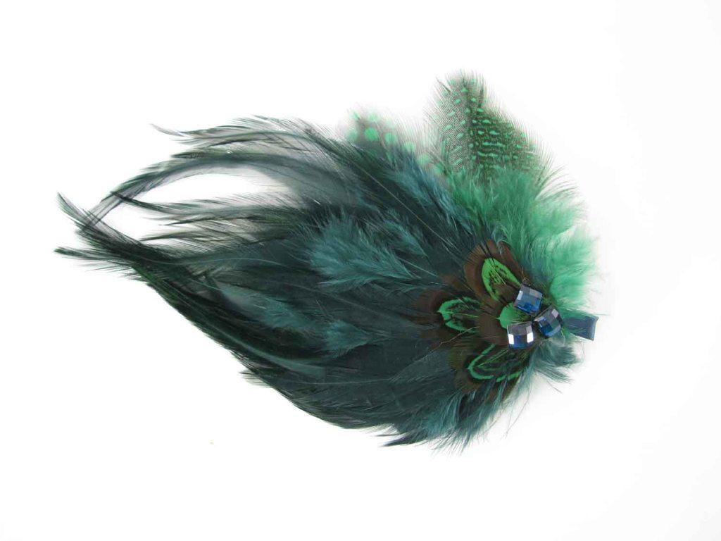 GARIMPPO - Grampo de cabelo de pena verde - R$25 - Baixa - Cópia