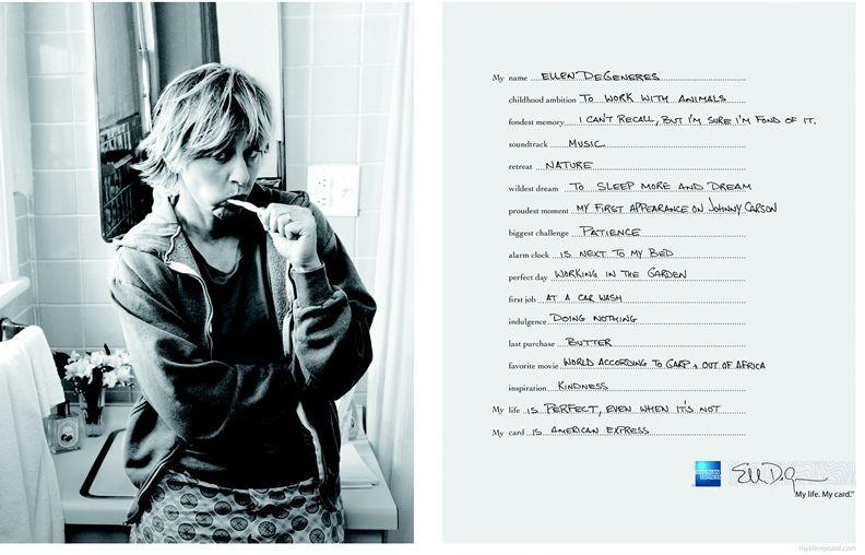 Uma das fotos da campanha da American Express clicadas por Annie