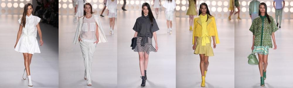 Looks femininos da Colcci (imagens: Charles Naseh, site Chic)
