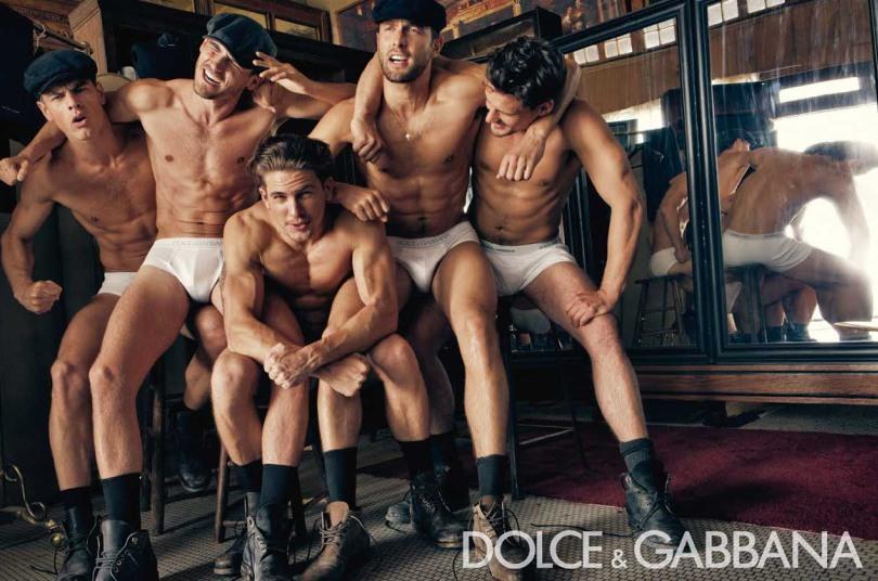 Uma das campanha de underwear da Dolce & Gabanna