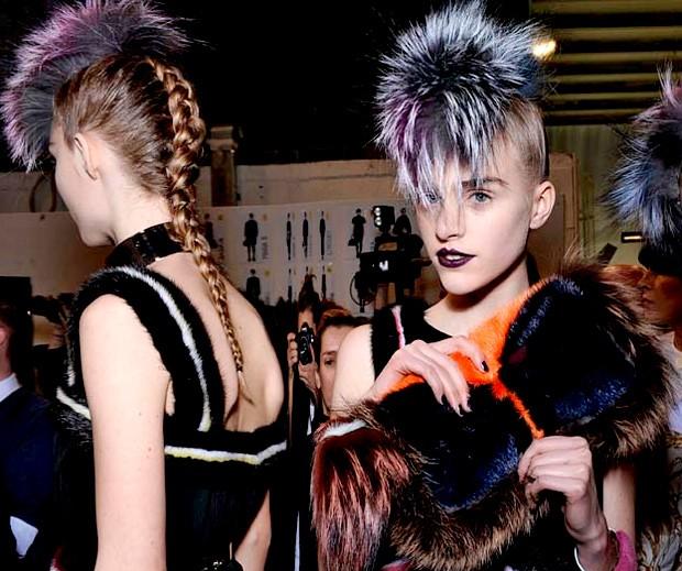 O penteado punk do desfile