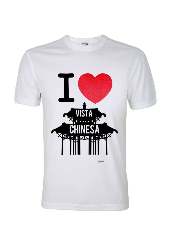 T-shirt I Love Vista Chinesa, Amore do Rio - R$ 39,90