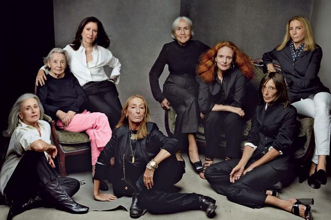 A foto que inicia e encerra do documentário The Vogue's Editor