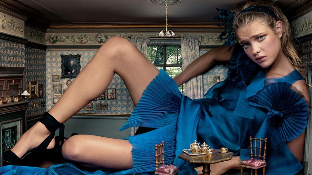 Editorial para a Vogue America fotografado por Annie, criado por Grace Coddington