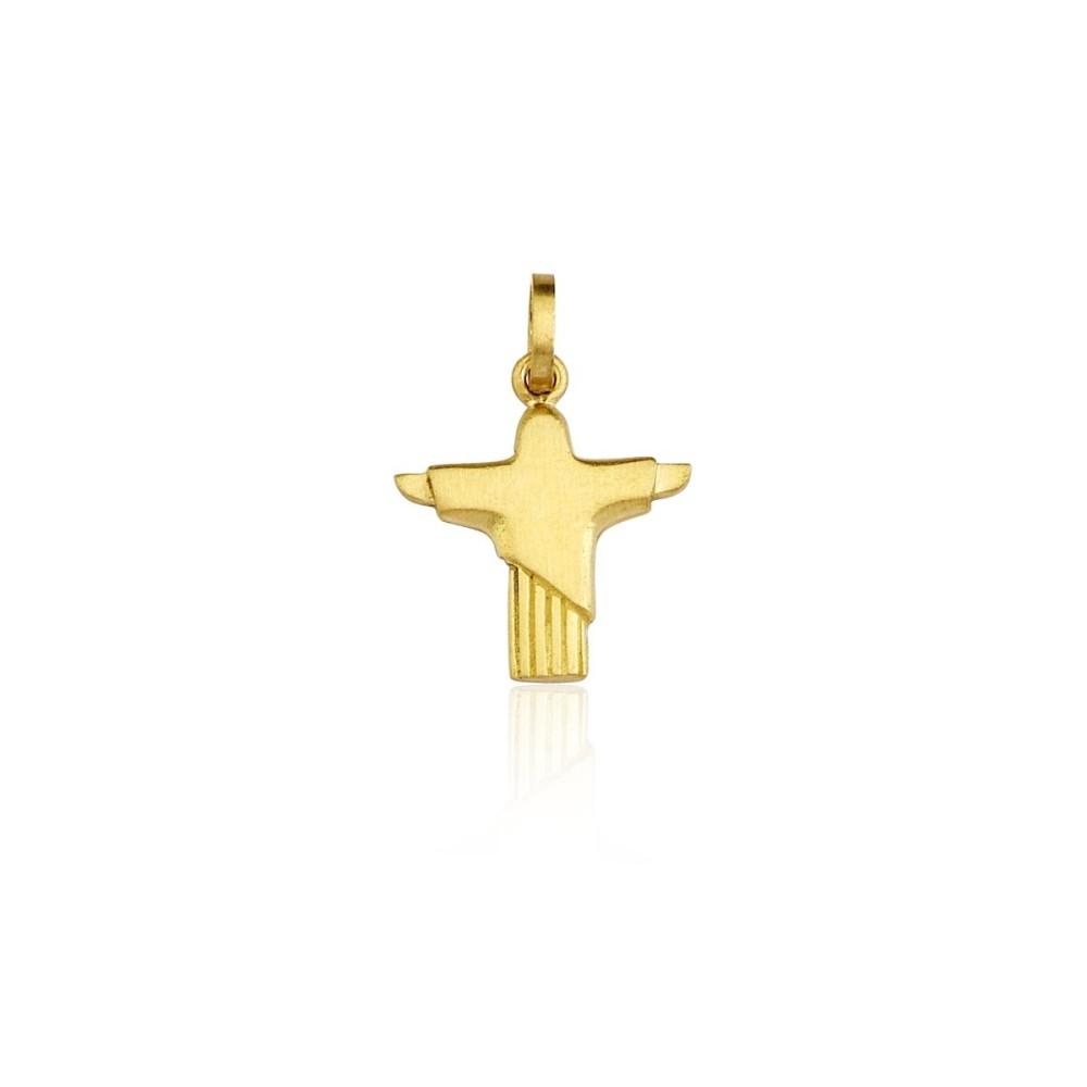 Pingente  Cristo de ouro amarelo, Lafry - R$ 480,00