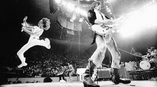 Uma das fotos da turnê dos Stones que Annie acompanhou