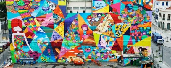 O maior grafiti do Rio de Janeiro, na Praça Mauá