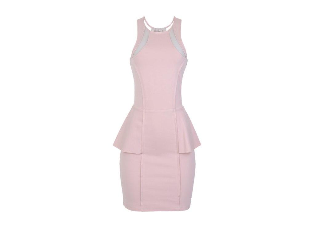 Vestido rosa com peplum, R$ 69,90