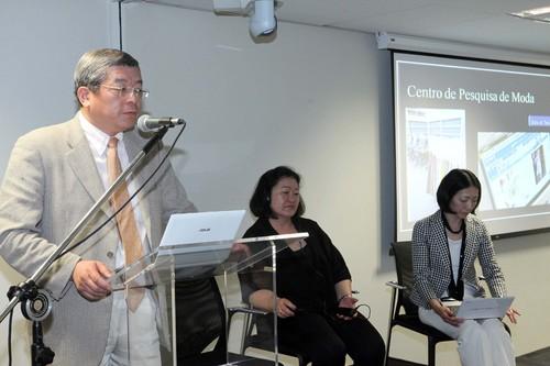 Yoshio Kakishima, durante palestra em Brasília (imagem divulgação)