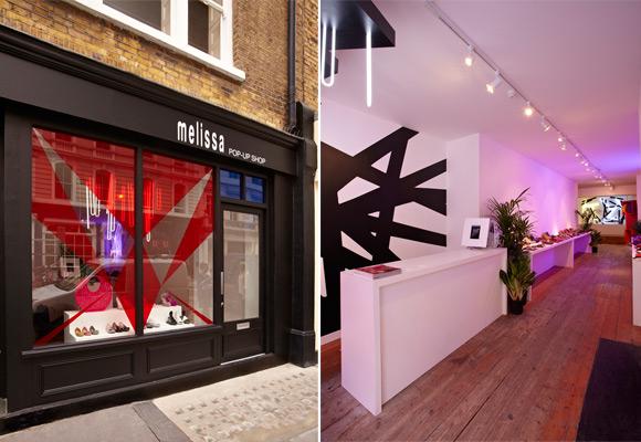 A Pop Up Store da Melissa em Londres (Foto divulgação)