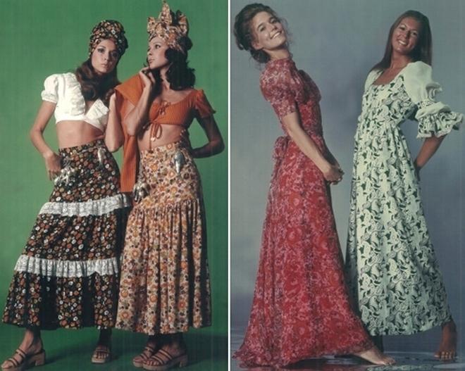 Criações da estilista em 1972 (imagem: reprodução)