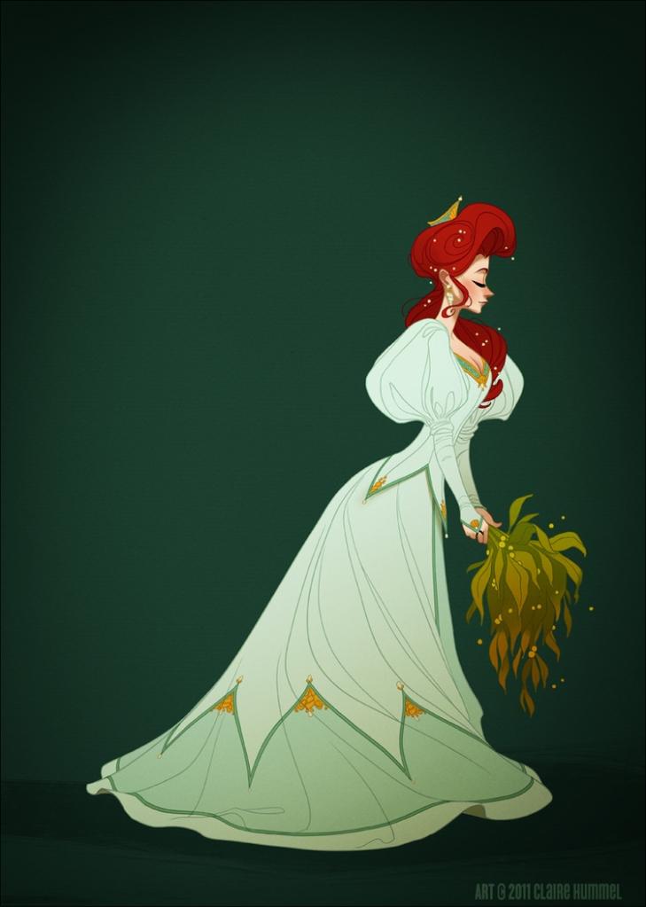 O de Ariel é baseado em 1890 nos vestidos de noite da época
