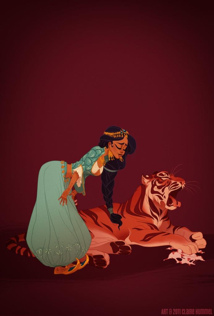 Jasmine é baseada em desenhos raros de meados do período  pré-islâmica da moda oriental