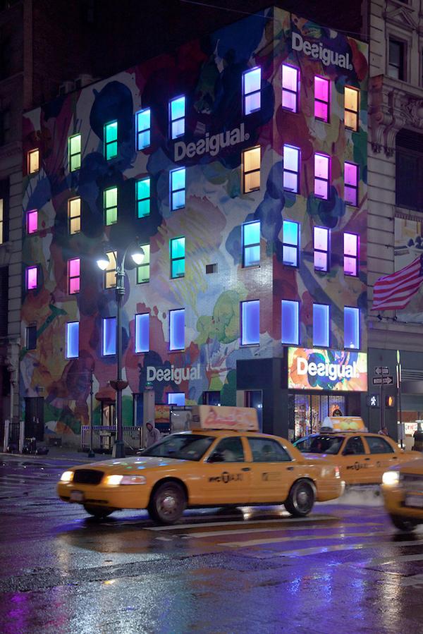 New York City :  Desigual Store at Night