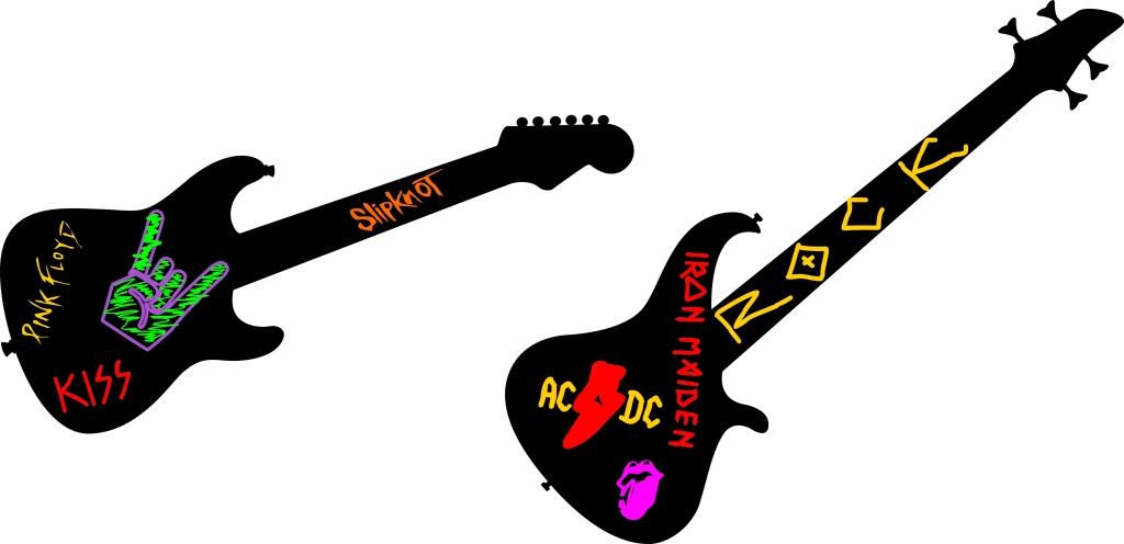 Adesivo de parede Guitarra Piglue R$98,00