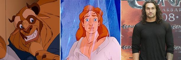 """Príncipe Adam de """"A Bela e a Fera"""": Jason Momoa"""