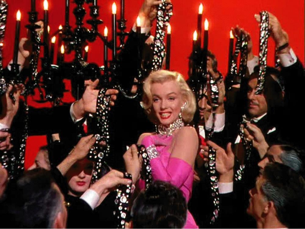 Marilyn Monroe in Howard Hawks' GENTLEMEN PREFER BLONDES (1953).