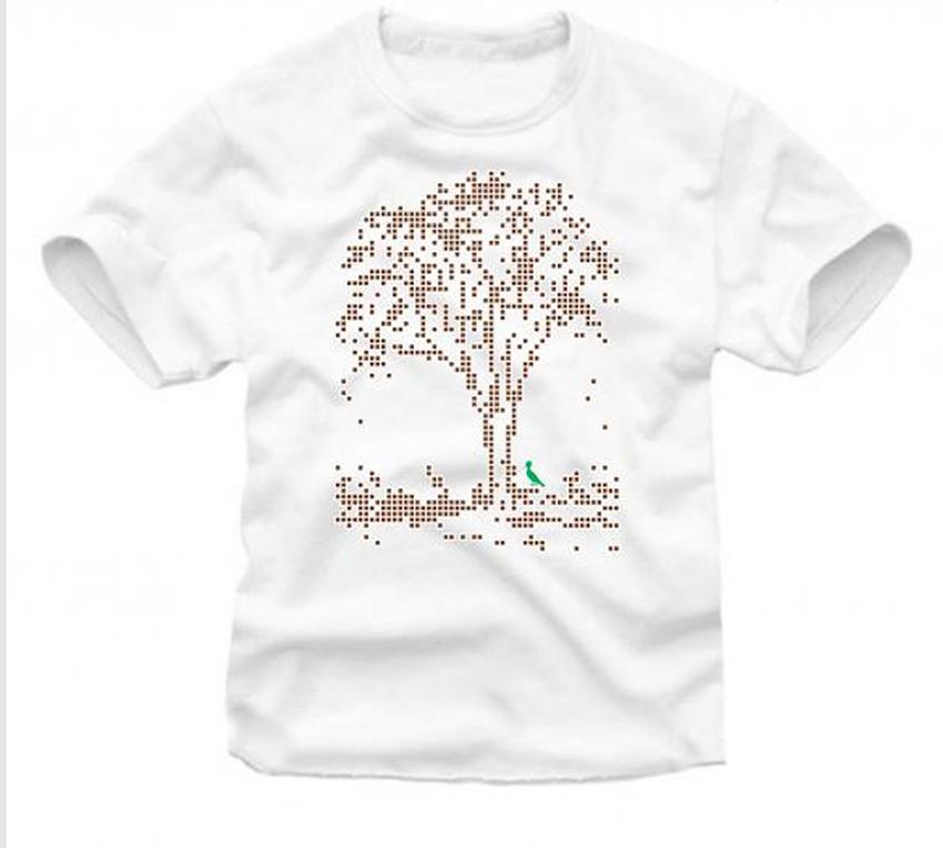 A árvore pixelizada de Rodrigo Calixto