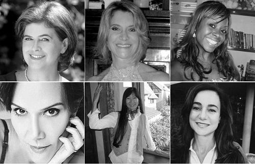 Sentido horário: Vera Golik, Regina Novelleto, Marta Pereira de Jesus, Edilene Deluca F. Costa, Ércia Koto, Fernanda Bacal