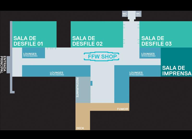 O mapa do evento