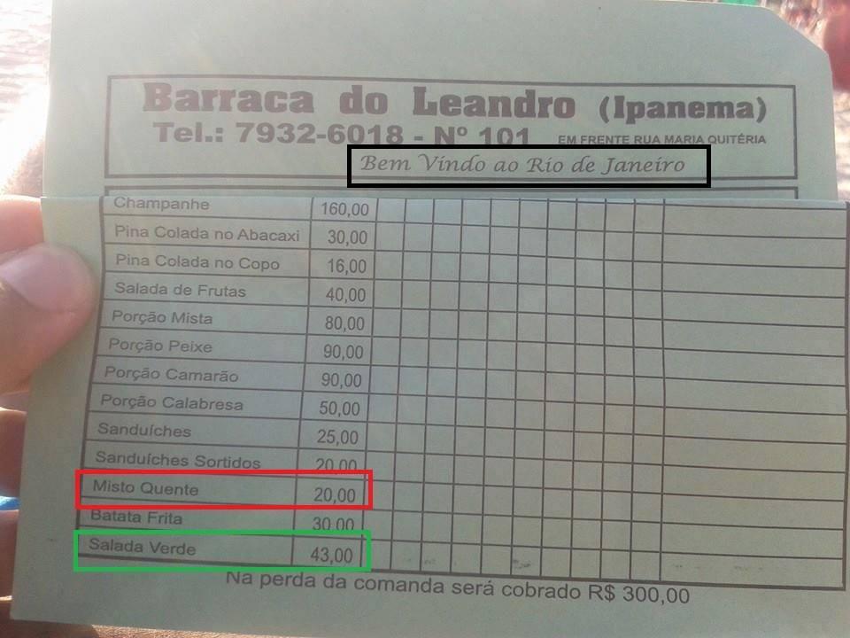 Uma das denúncias na Praia de Ipanema
