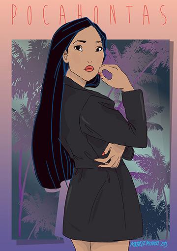 Pocahontas com um microvestido