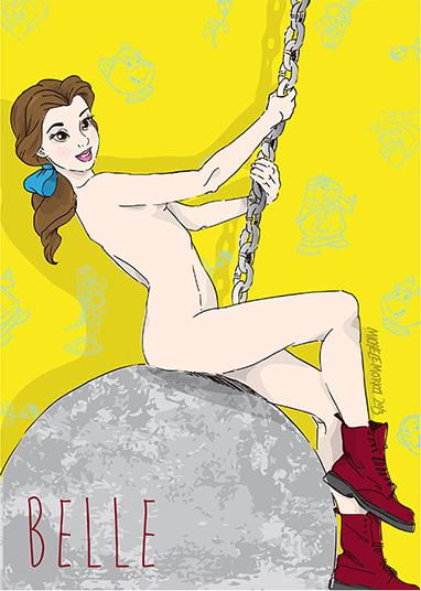"""E a Bela preferiu ficar pelada, como a cantora no clipe """"Wrecking ball"""""""