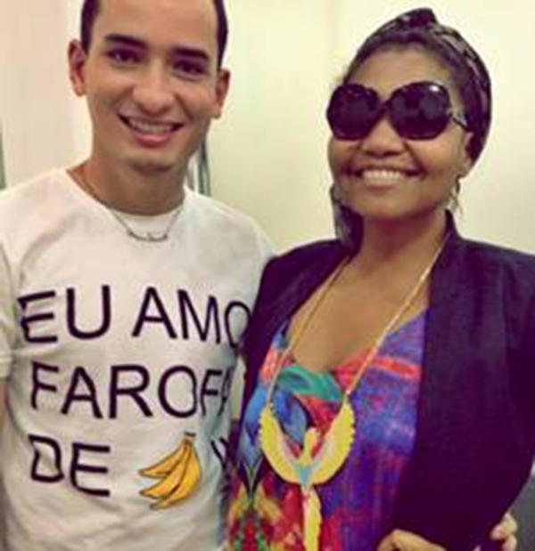 O designer João Sebastião e a cantora Gaby Amarantos