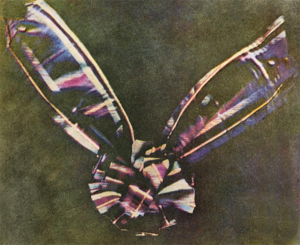 Imagem da primeira fotografia colorida da história, tirada por James Clerk Maxwell em 1861.