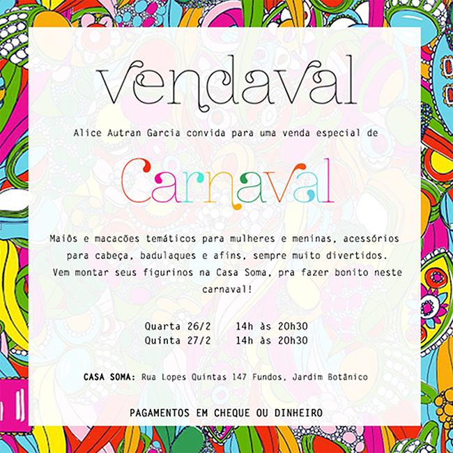 Convite de Carnaval Alice Autram Insta