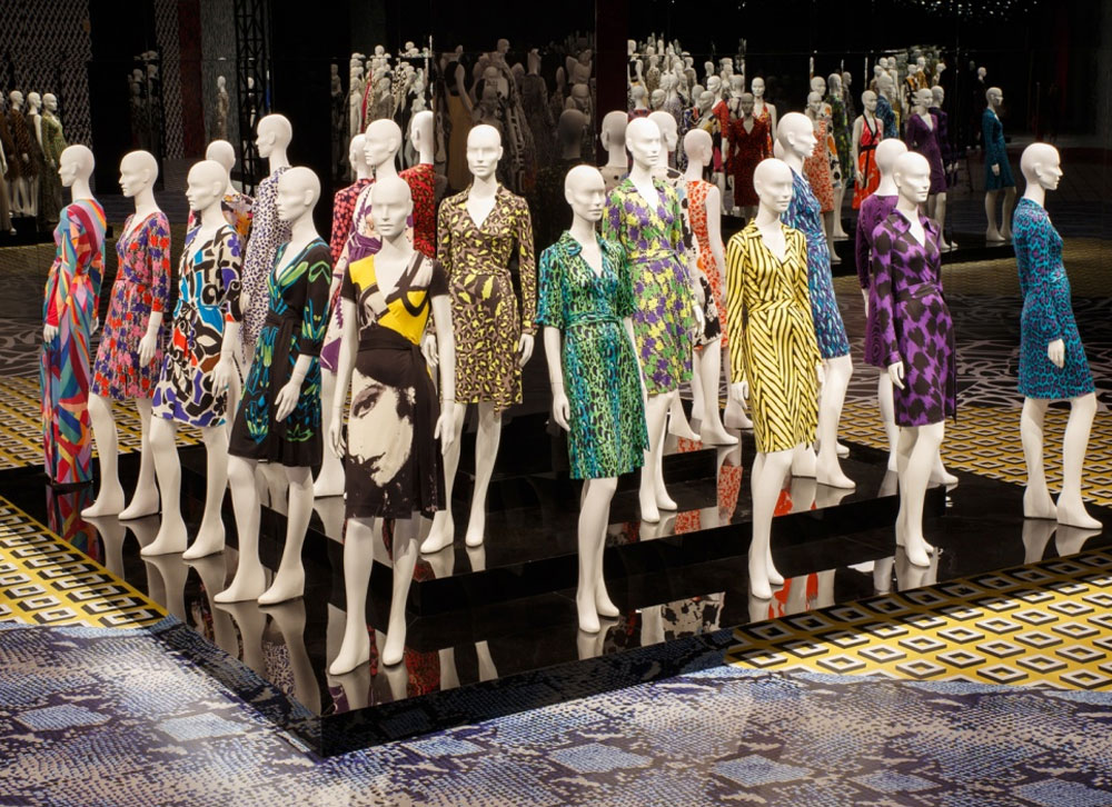 Imagem da mostra Journey of a dress de Diane Von Furstenberg